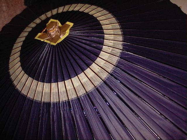 中張り蛇の目傘 紫色